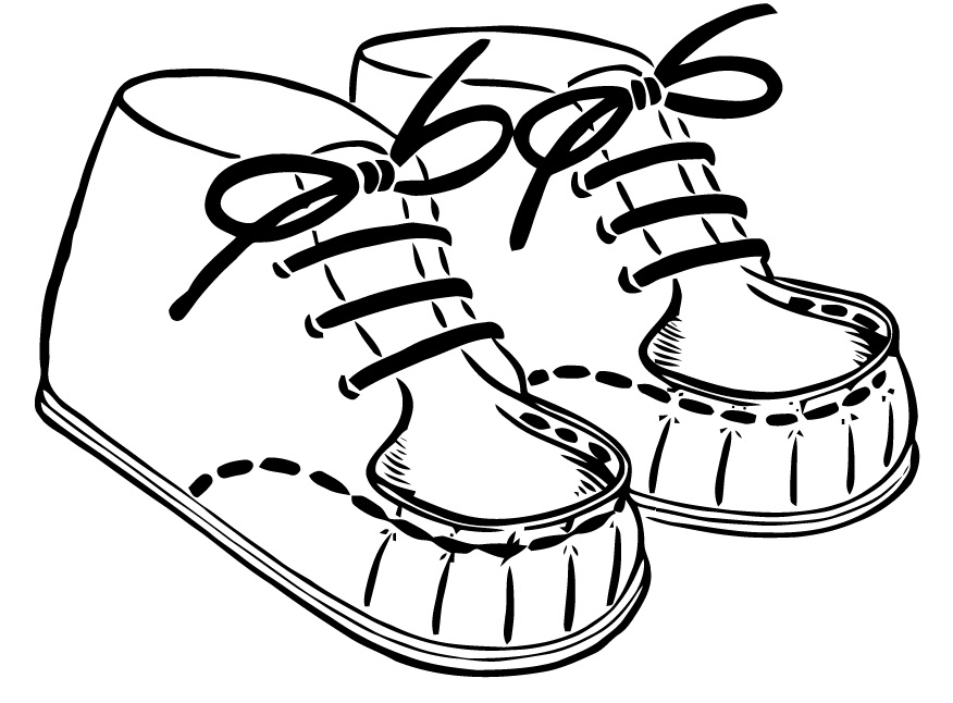 876x646 Ephemeraphilia Free Vector Art Baby Shoes
