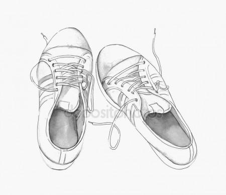 450x388 Hand Drawn Baby Shoes Stock Vector Vectorfusionart