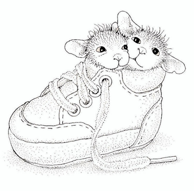 650x642 2 Mice In A Baby Shoe .so Cute Adult Coloring Pages