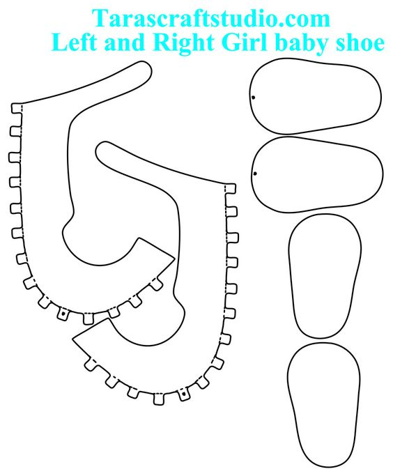 564x683 Template For Paper Baby Shoes Baby Shower Babies