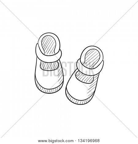 450x470 Baby Booties Vector Sketch Icon Vector Amp Photo Bigstock