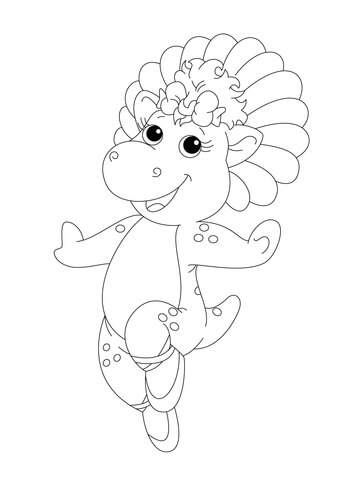 360x480 Baby Pop In Her Ballet Shoes Coloring Page Free Printable