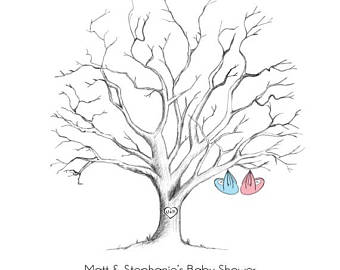 340x270 Baby Shower Fingerprint Tree