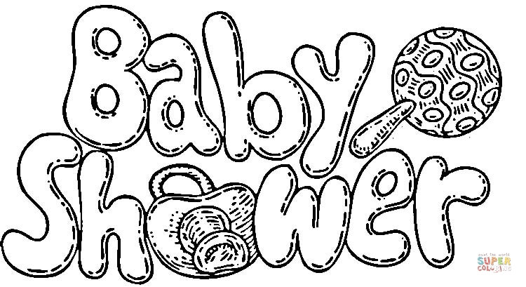 750x409 Baby Shower Celebration Coloring Page Free Printable Coloring Pages