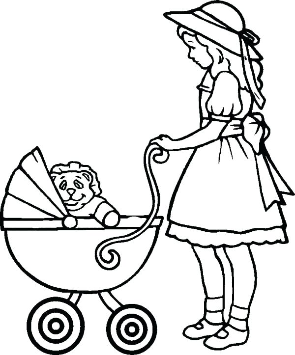 600x723 Coloring Pages For Babies Babies Babies In Stroller Coloring Pages