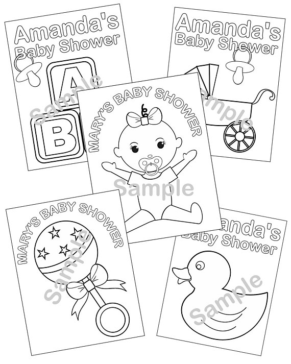 570x713 5 Personalized Printable Baby Shower Favor Childrens Kids