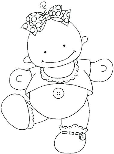 380x512 Baby Shower Coloring Book Pages Girl Picture For To Color Her New