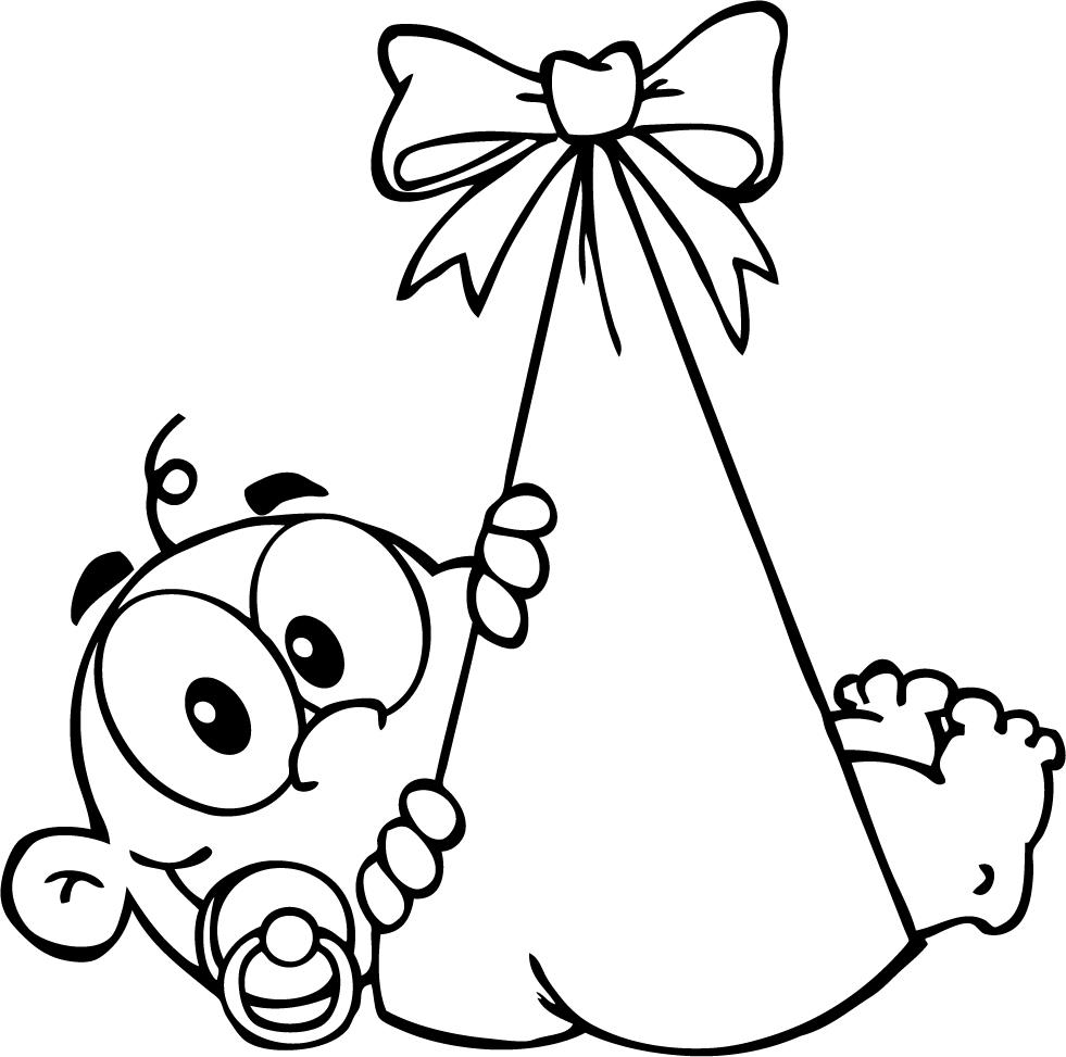 981x973 Baby Shower Coloring Pages
