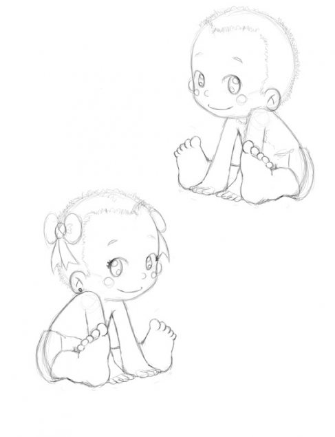 487x635 Baby Shower Drawings