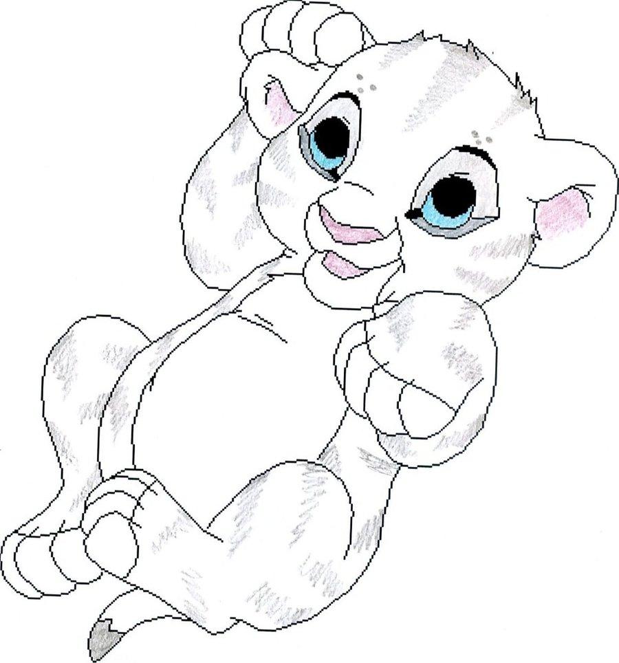 Baby Simba Drawing at GetDrawings | Free download