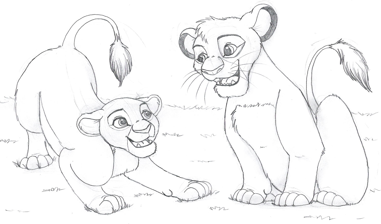 1500x883 Hanging Out Simba And Nala Free Coloring Page Animals, Disney