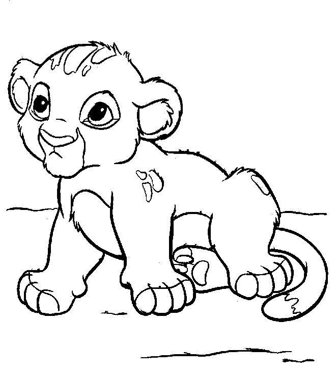 Baby Simba Drawing At Getdrawings Com Free For Personal Use Baby