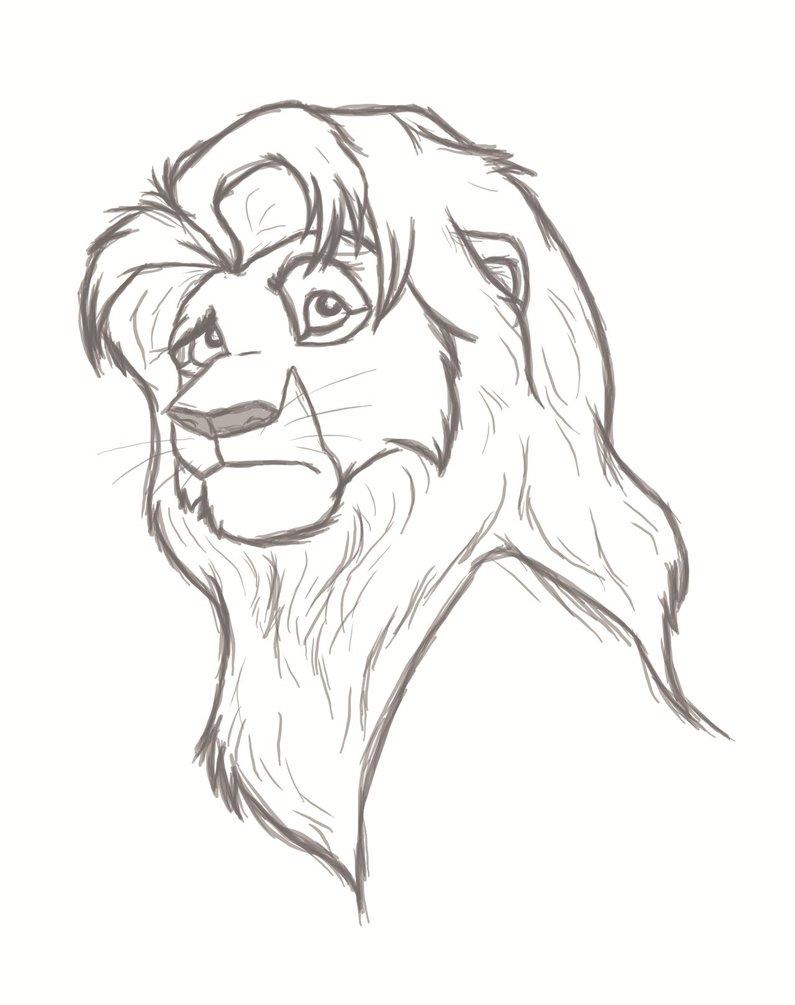 795x1005 Sketch Simba By Anonim911