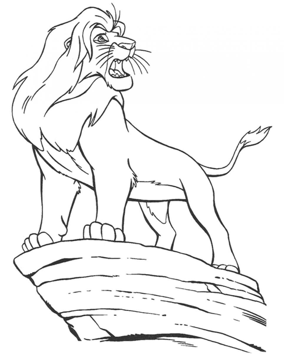 Baby Simba Drawing at GetDrawings.com | Free for personal use Baby ...