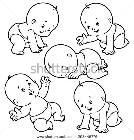 450x470 Baby Outline Group