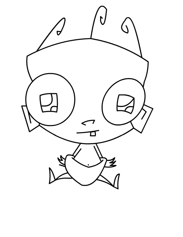 612x792 Invader Zim Baby Sitting Invader Zim Coloring Pages