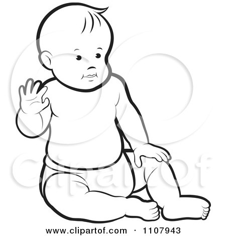 450x470 Royalty Free (Rf) Baby Sitting Up Clipart, Illustrations, Vector