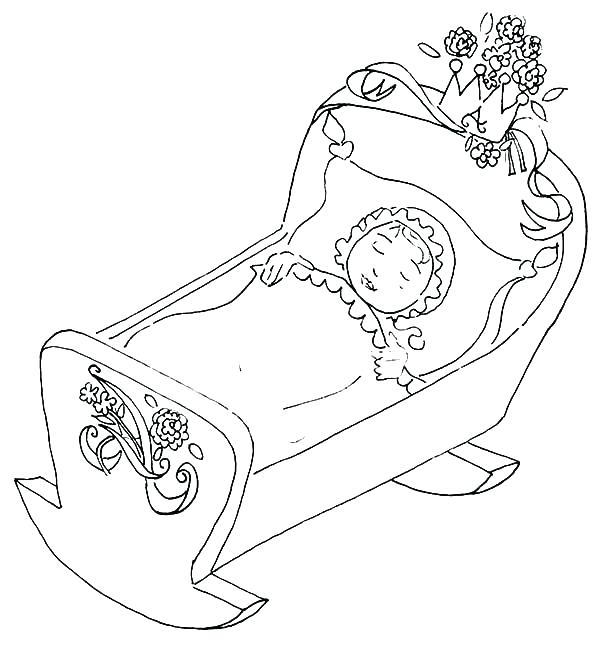 600x645 Coloring Pages Babies Manger Coloring Pages Babies Sleeping