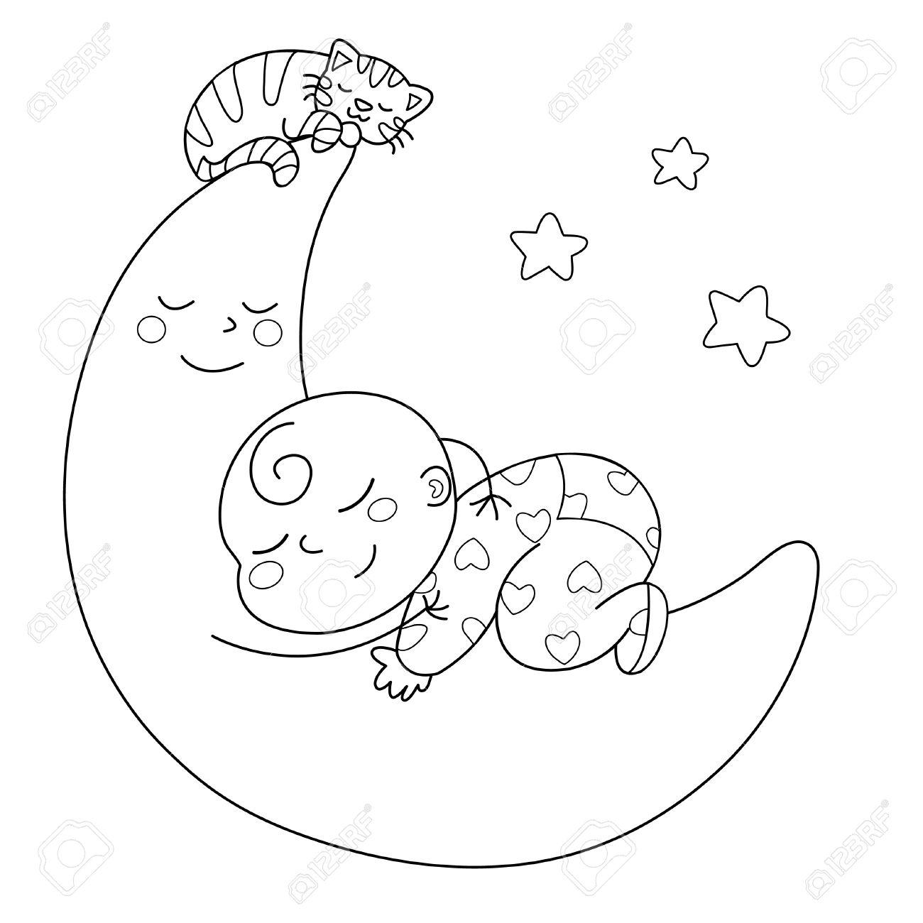 Black And White Baby Sleeping: Baby Sleeping Drawing At GetDrawings.com