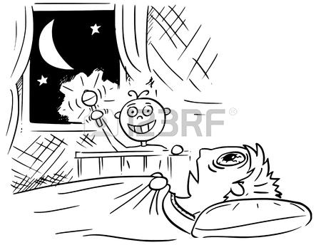 450x344 Hand Drawing Cartoon Vector Illustration Of Baby Not Sleeping