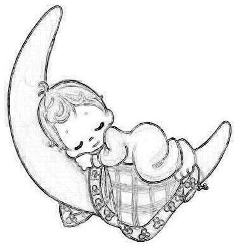 Baby Sleeping Drawing at GetDrawings.com | Free for personal use ...