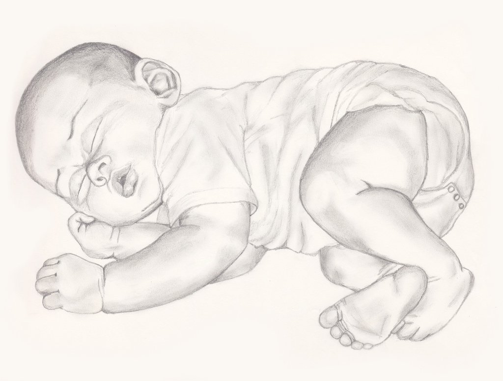 1024x776 Sleeping Baby By Bitts2010