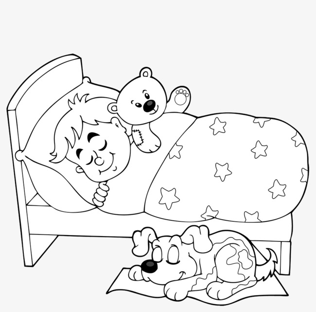 650x641 Black And White Line Drawing Of The Sleeping Baby, Sleeping Child