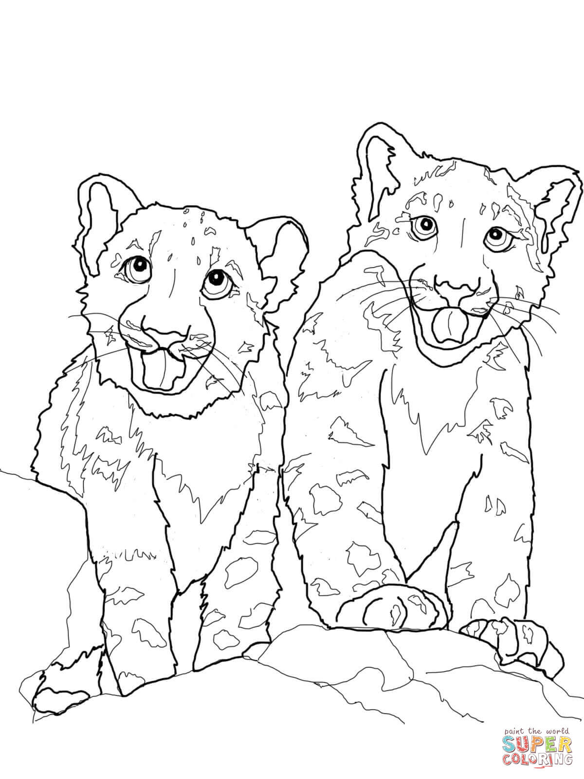 1200x1600 Babies Snow Leopard Coloring Page Free Printable Coloring Pages
