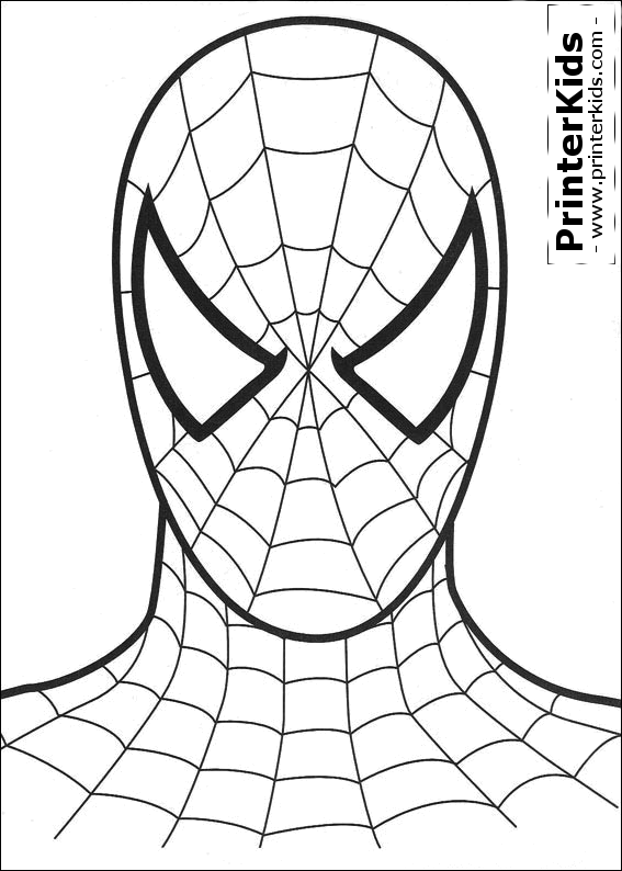 567x794 Printable Spiderman Mask Spiderman Coloring Page
