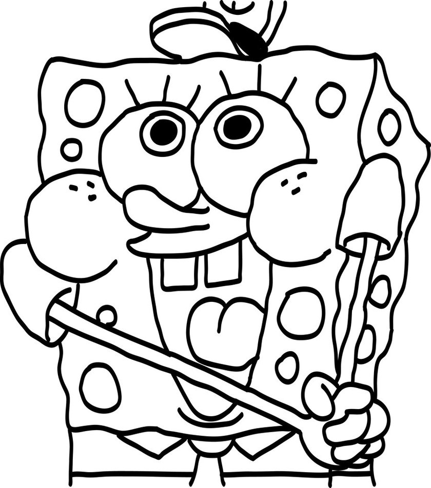 840x952 Perfect Baby Spongebob Coloring Pages 47 For Line Drawings