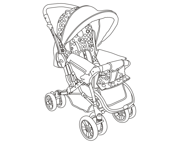 Baby Stroller Drawing