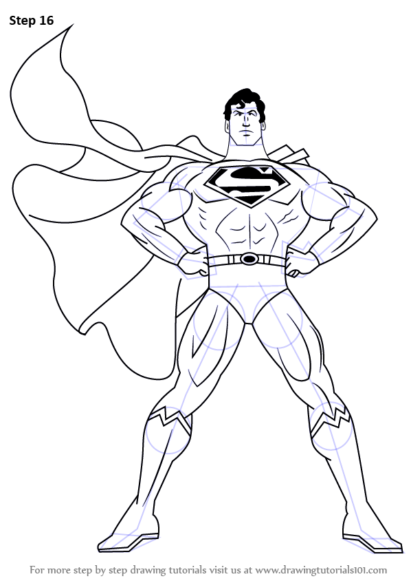 598x844 Learn How To Draw Superman (Superman) Step By Step Drawing Tutorials
