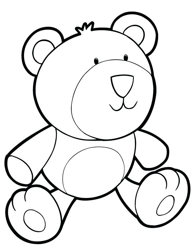670x867 Good Teddy Bear Coloring Pages New Printable For Kids Baby