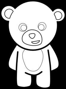 222x300 Teddy Bear Outline Clip Art