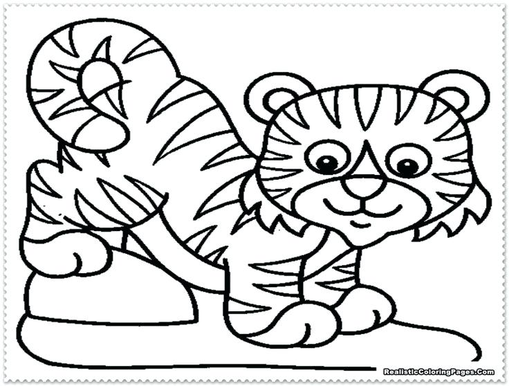 736x558 Colouring Pages Of Tiger Baby Tiger Coloring Pages Coloring Pages