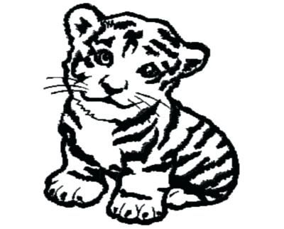 400x322 Cute Tiger Coloring Pages White Tiger Cute Baby Tiger Coloring