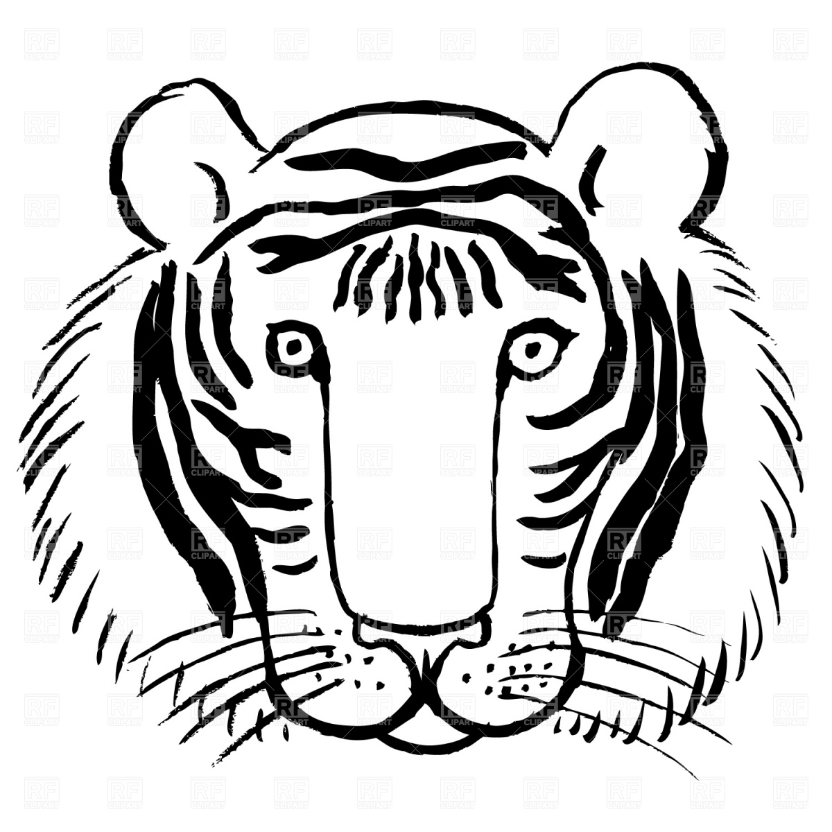1200x1200 Free Tiger Face Clipart Image