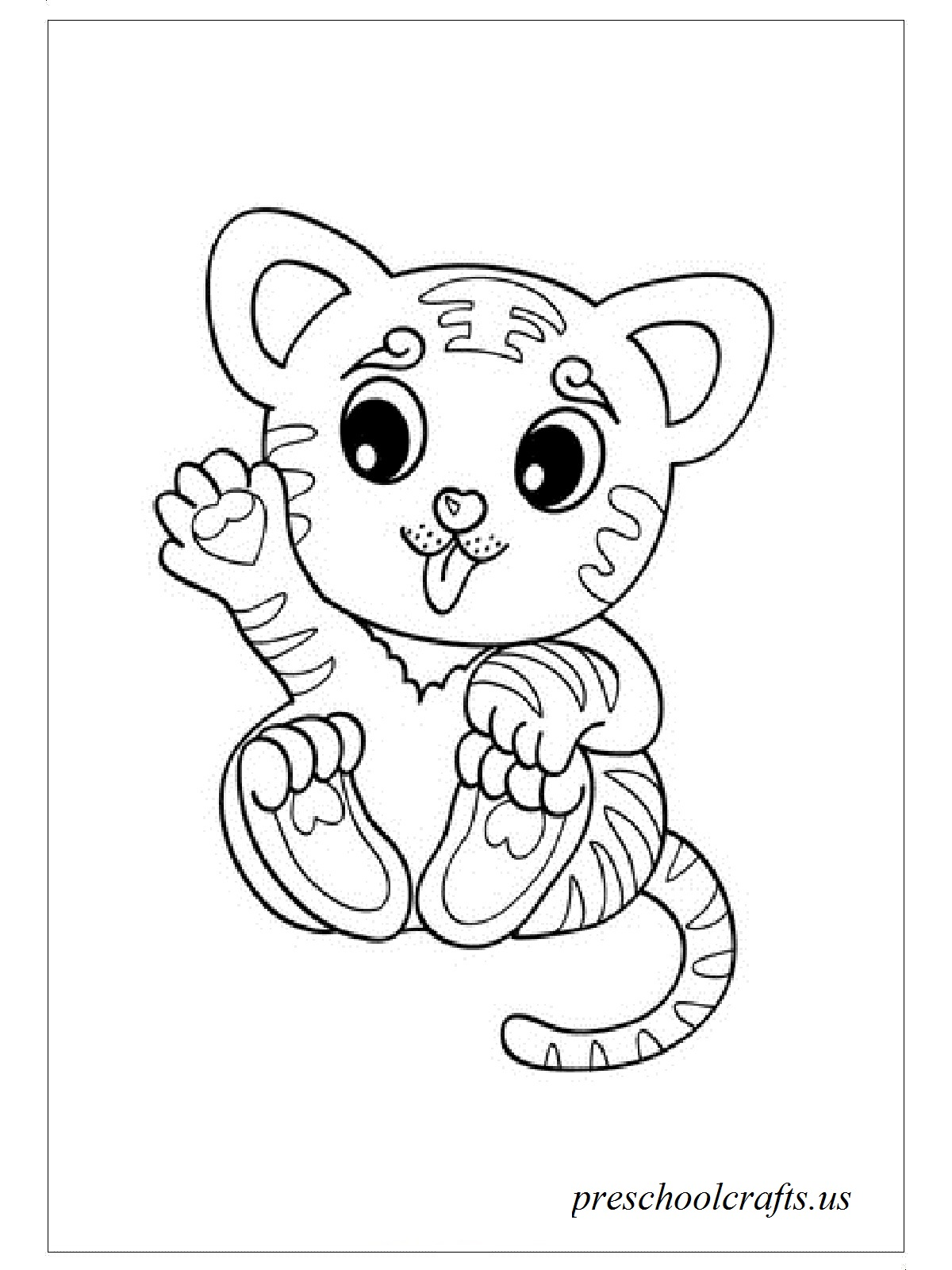 1200x1600 Baby Tiger Coloring Pages