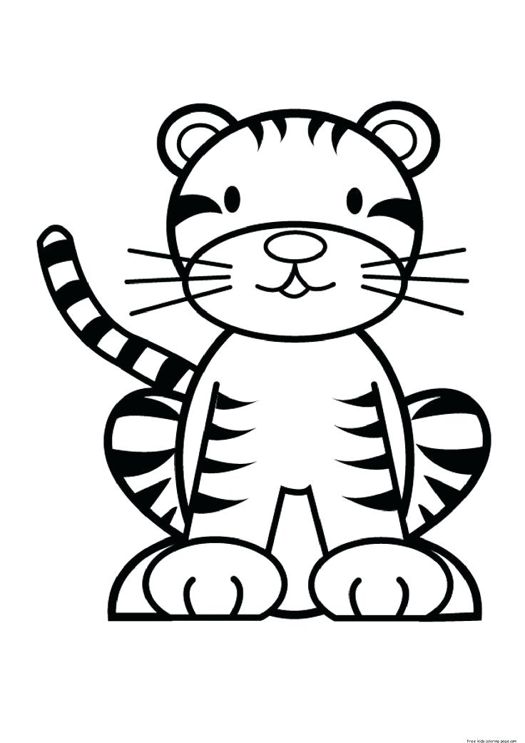 736x1041 Spectacular Surprising Baby Tiger Coloring Page Fee Start Them Off
