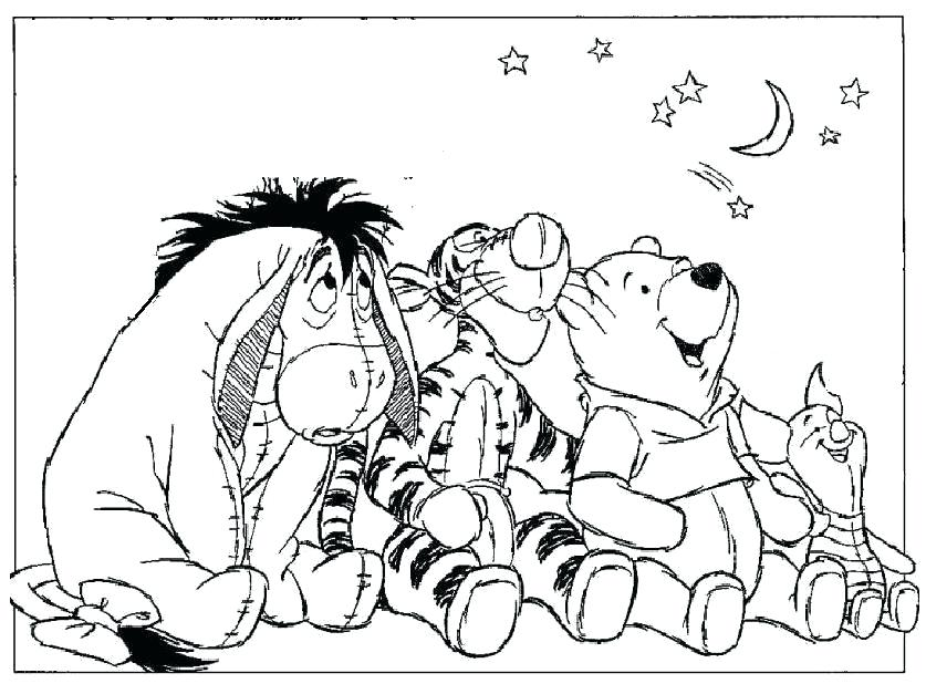 837x627 Winnie The Pooh Coloring Pages The Pooh Coloring Pages Baby Winnie
