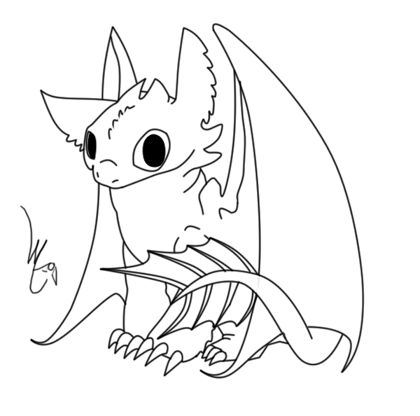 600x594 Baby Toothless Lineart By Lyricabelachium