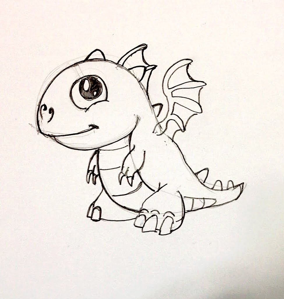 975x1027 Baby Dragon Drawing Spee Draw Baby Fire Dragon From Dragonvale