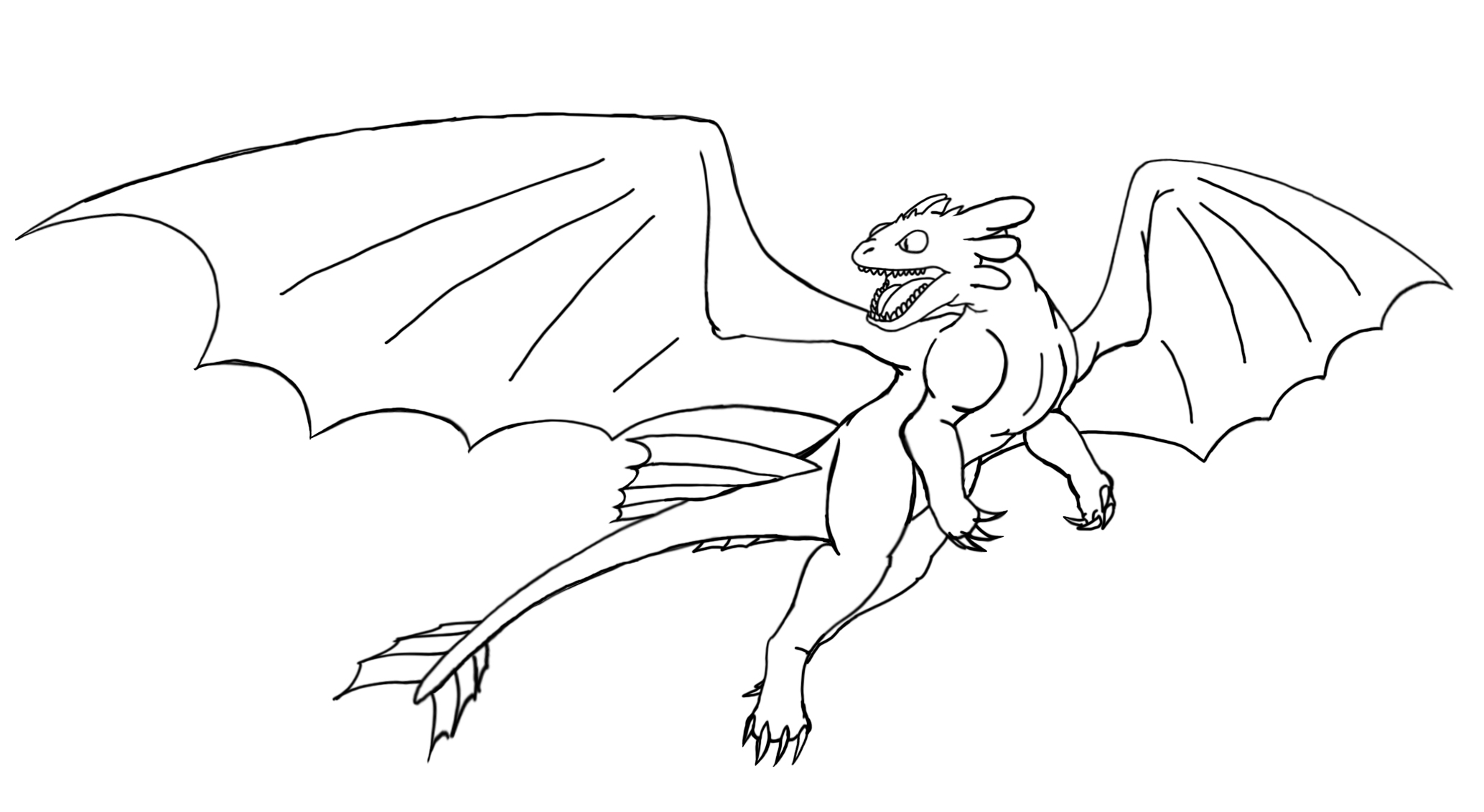 2067x1131 Toothless Coloring Pages