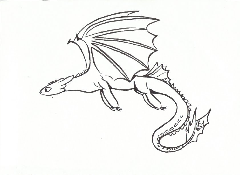 Baby Toothless Drawing at GetDrawings.com | Free for personal use ...