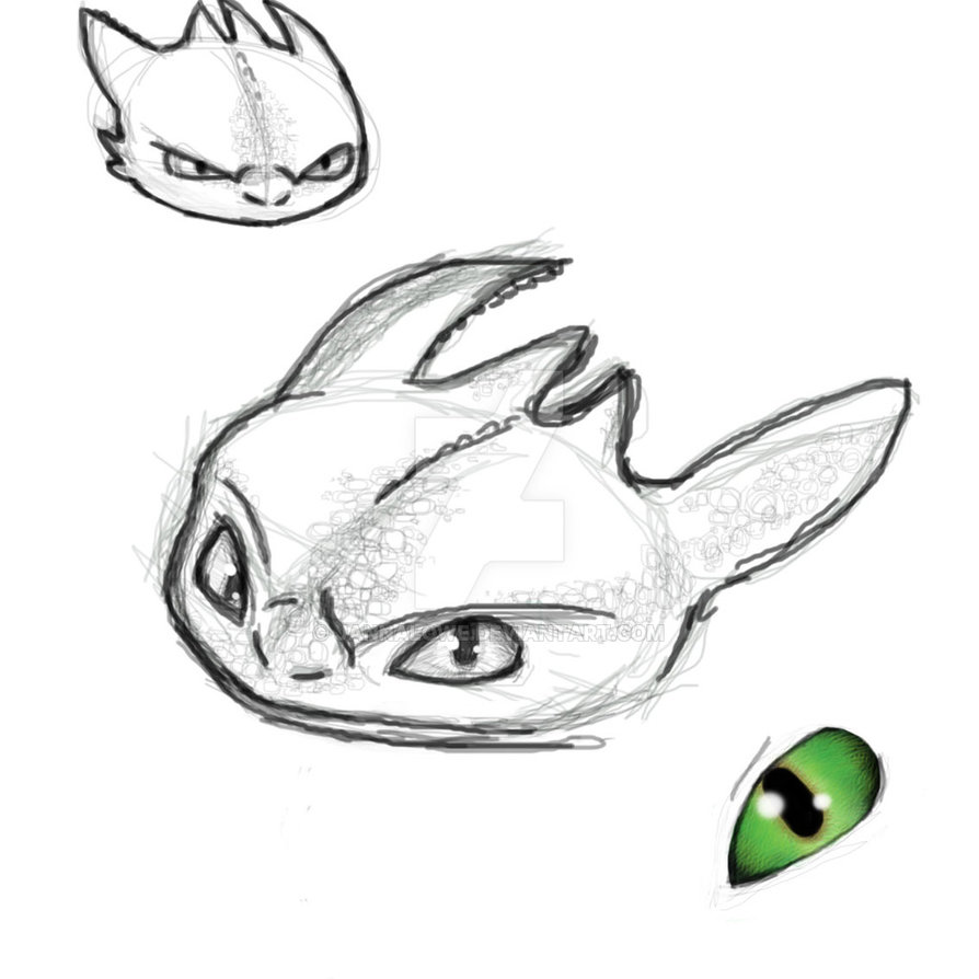 894x894 Toothless Doodles D By Jannalowe