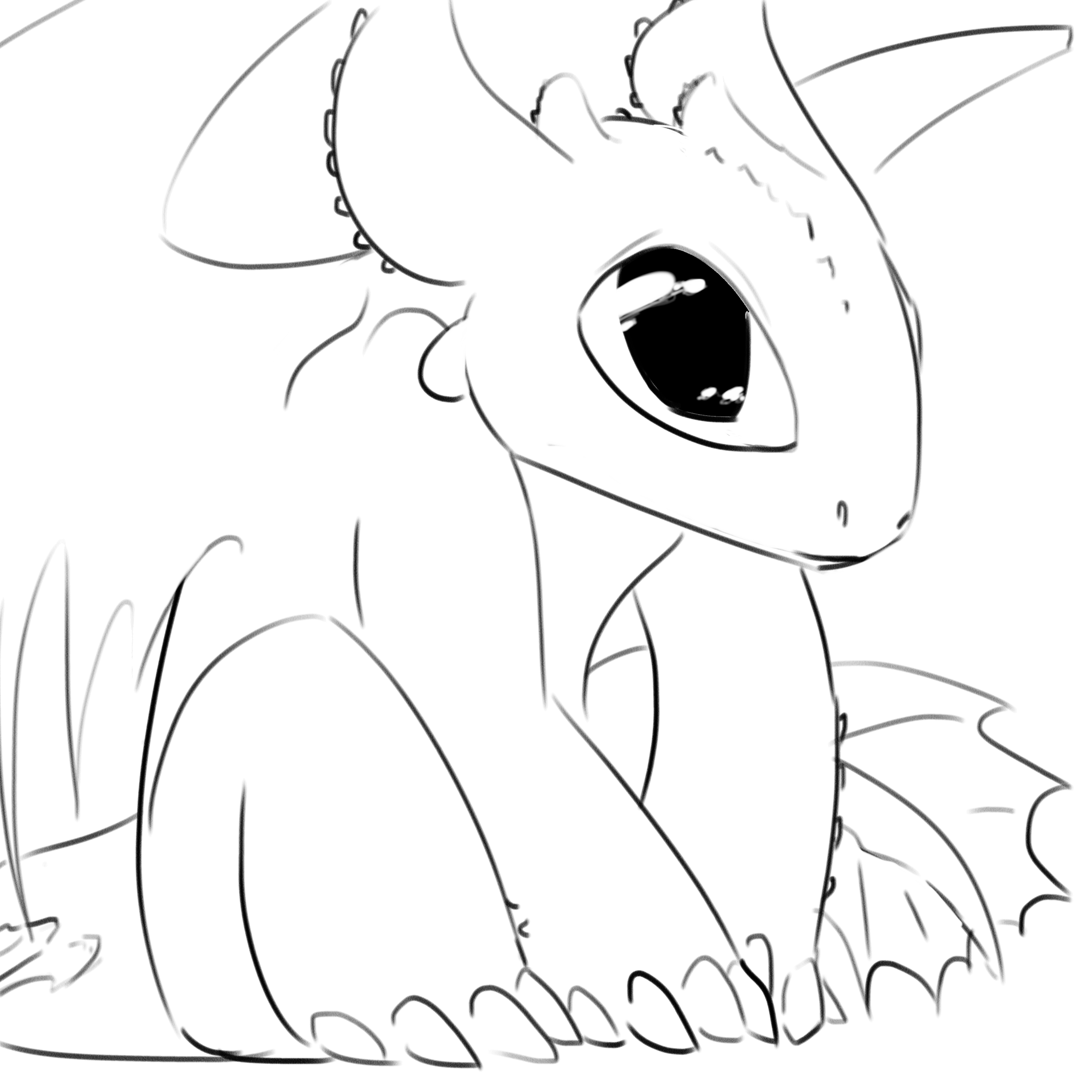 Baby Toothless Drawing at GetDrawings | Free download