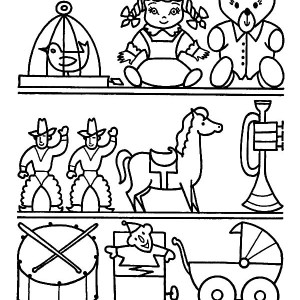300x300 Toys With Shapes For Babies Coloring Pages Best Place To Color