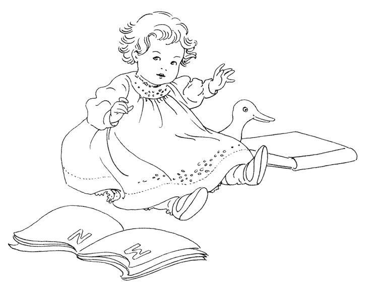 736x578 Baby Line Drawing Clip Art 34