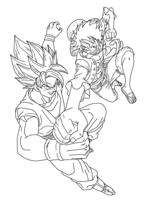 613x814 Goku Vs Vegeta Coloring Pages Drinkeats.club