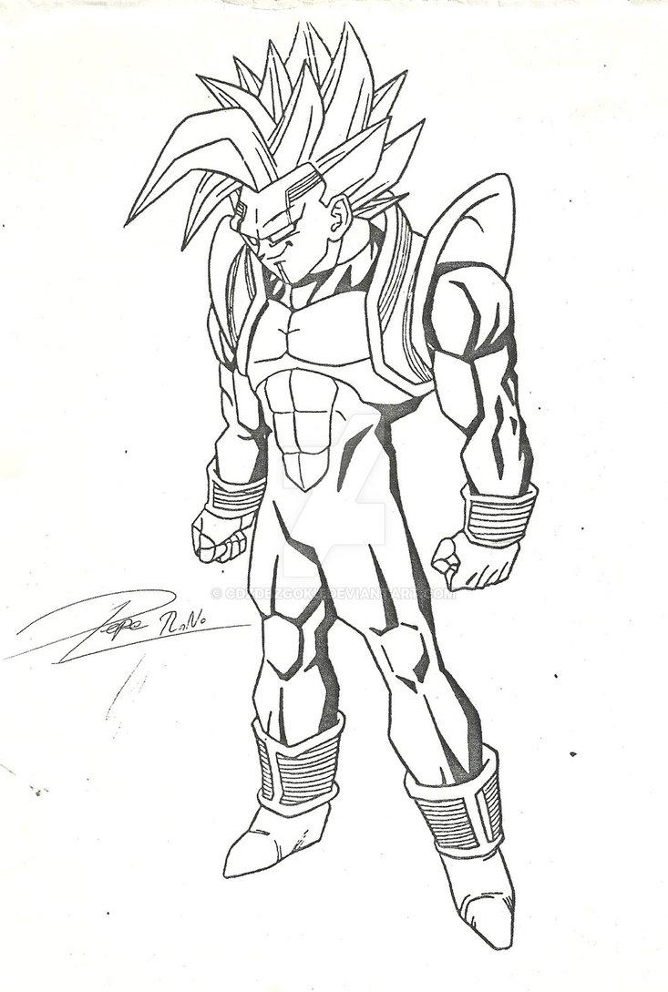 733x1089 Super Baby Vegeta Draw 2000 By Cdzdbzgoku